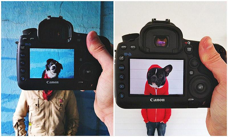 BIGPIC18 Владельцы домашних животных и их питомцы в причудливом фотопроекте #petheadz
