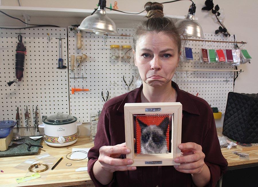 Grumpycat03 Самый сердитый кот интернета стал музой для художников
