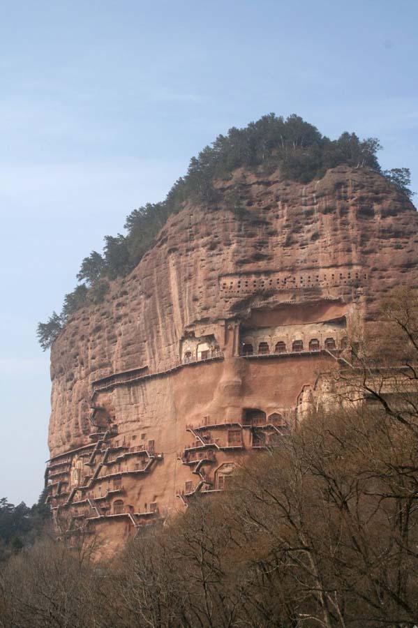 Maijishan Grottoes 2 Гроты Майцзишань