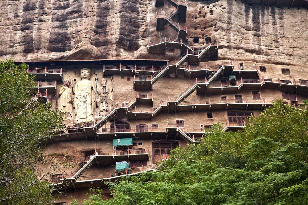 Maijishan Grottoes 20 Гроты Майцзишань