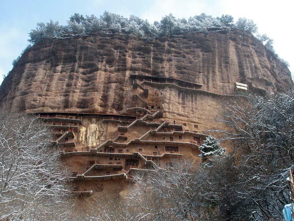 Maijishan Grottoes 21 Гроты Майцзишань