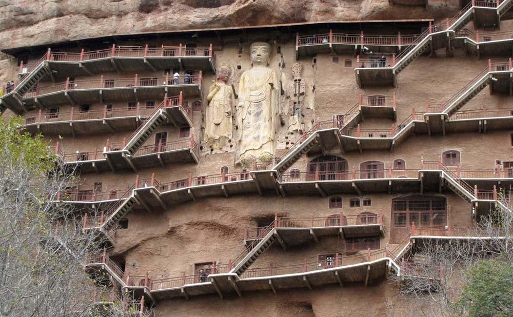Maijishan Grottoes 22 Гроты Майцзишань