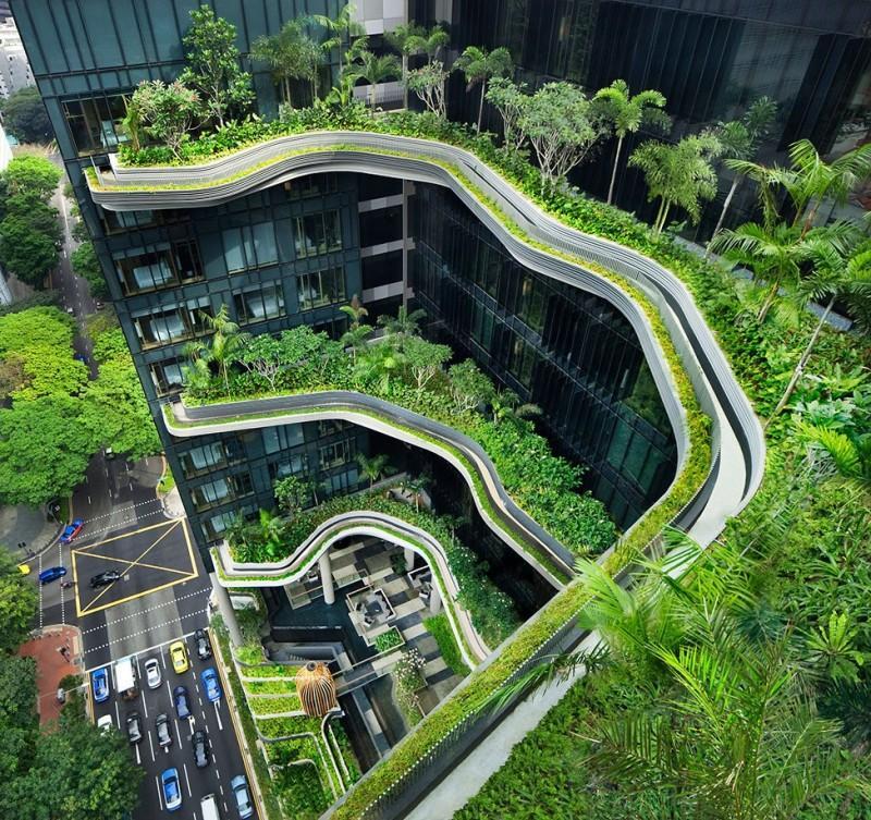 Parkroyal01 800x753 Отель сад Parkroyal в Сингапуре