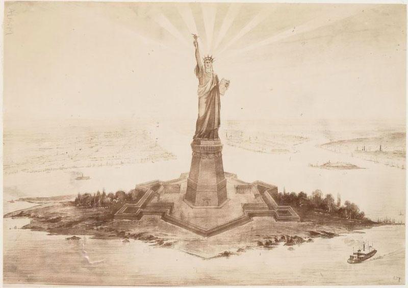 StatueofLiberty01 Редкие кадры со строительства статуи Свободы