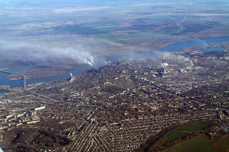 Чуден Днепр с высоты самолета. Перелет Киев-Днепропетровск