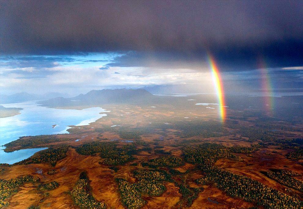 rainbows01 50 потрясающих фотографий двойной радуги