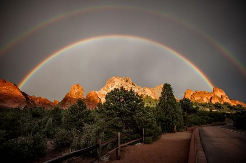 rainbows20 800x531 50 потрясающих фотографий двойной радуги