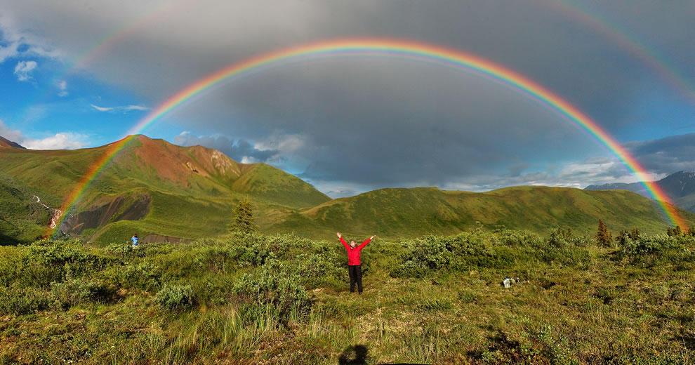 50 потрясающих фотографий двойной радуги