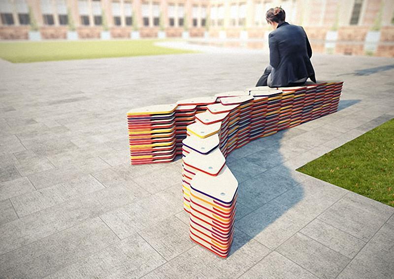9tarelki Арт скамейки: самая необычная городская мебель