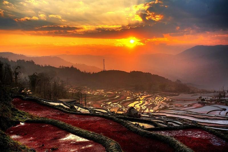 Рисовые террасы Хунхэ-Хани включены в Список Всемирного наследия ЮНЕСКО