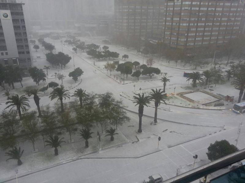 Снегопад в Кейптауне