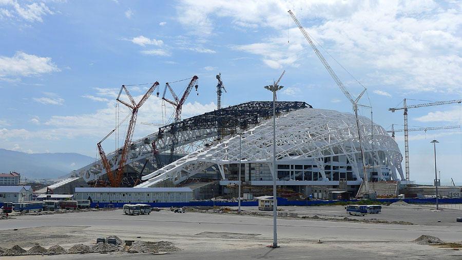 Sochi281 50 самых актуальных фотографий большой Олимпийской стройки в Сочи