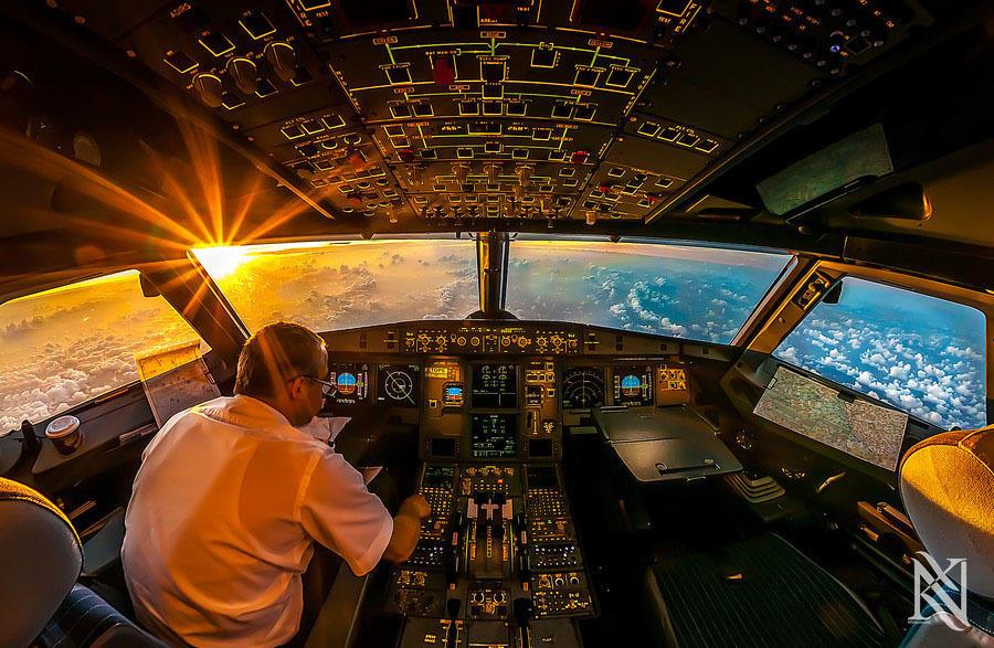 kabina pilotov 1 Удивительные фотографии из кабины пилота