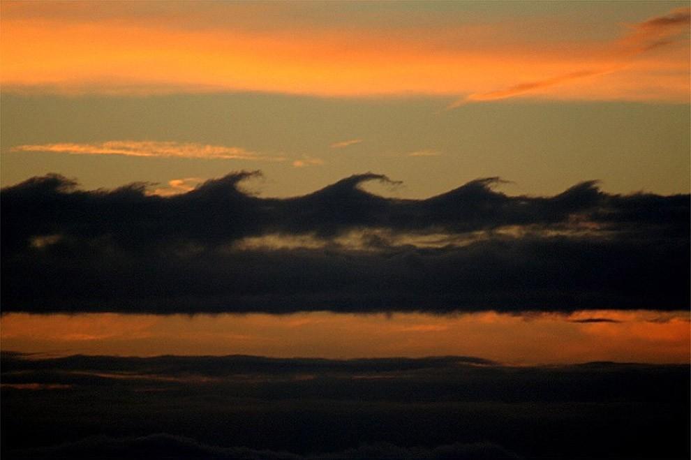 wavyclouds01 Волноподобные облака Кельвина Гельмгольца