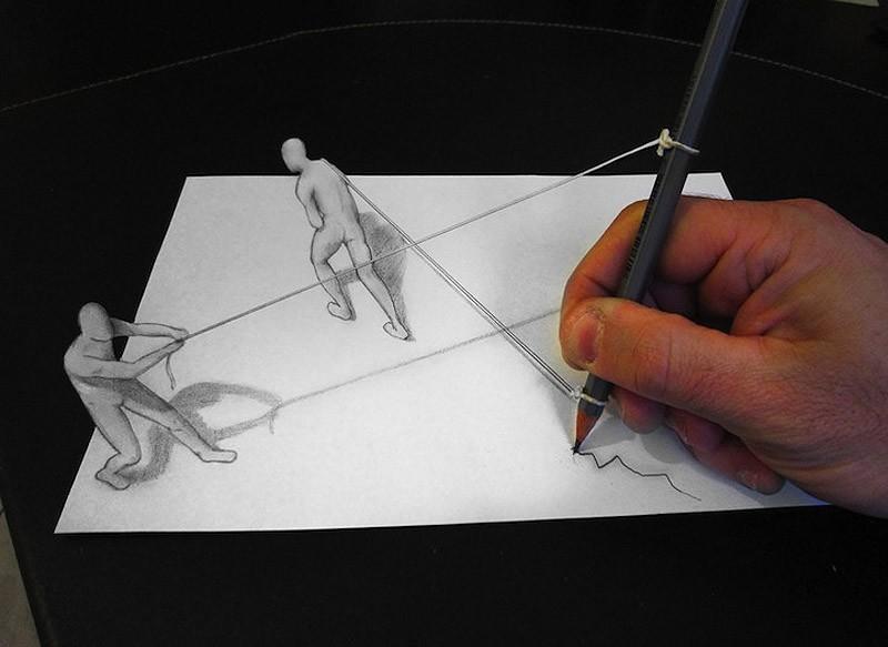 Anamorphdrawings06 Умопомрачительные 3D рисунки