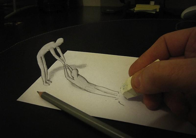 Anamorphdrawings09 Умопомрачительные 3D рисунки