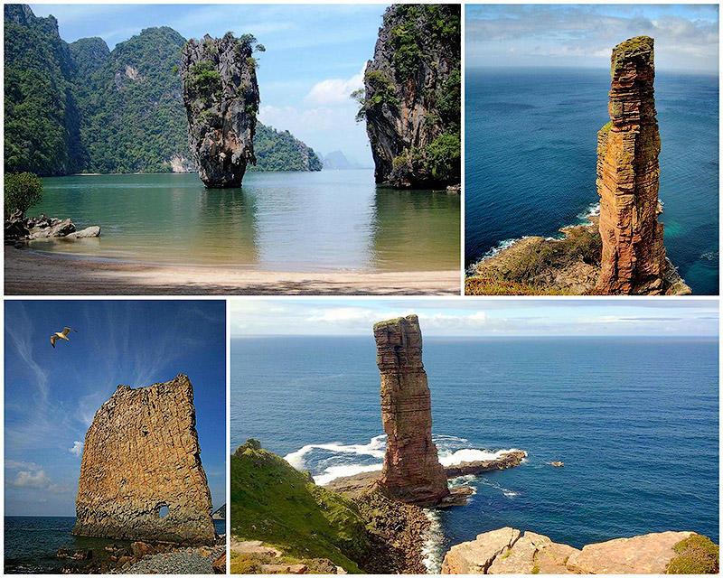 Самые красивые и необычные морские скалы