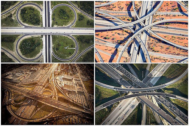 Там, где расходятся дороги: Аэросъёмка от Питера Эндрю