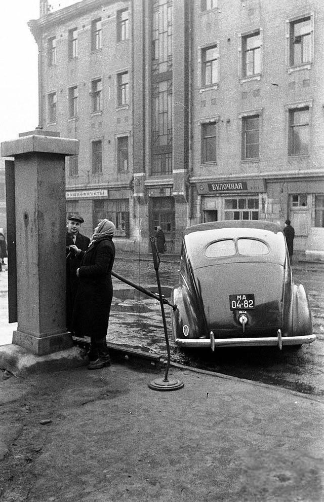 gasstation06 Бензоколонки в СССР   история в фотографиях