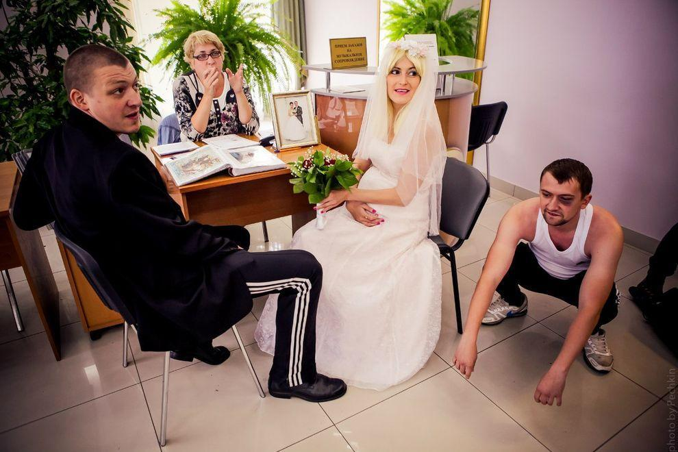 Смешной стиль свадьбы