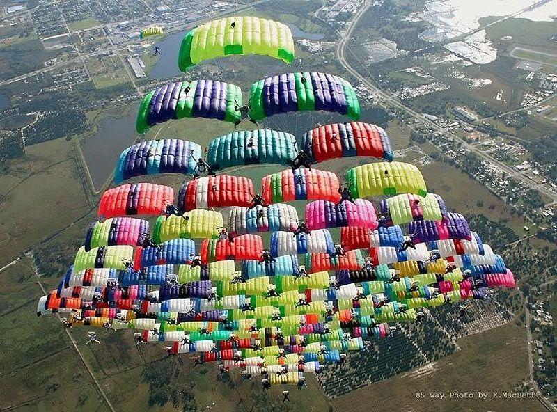 parachutes05 Самые впечатляющие фигуры парашютного спорта