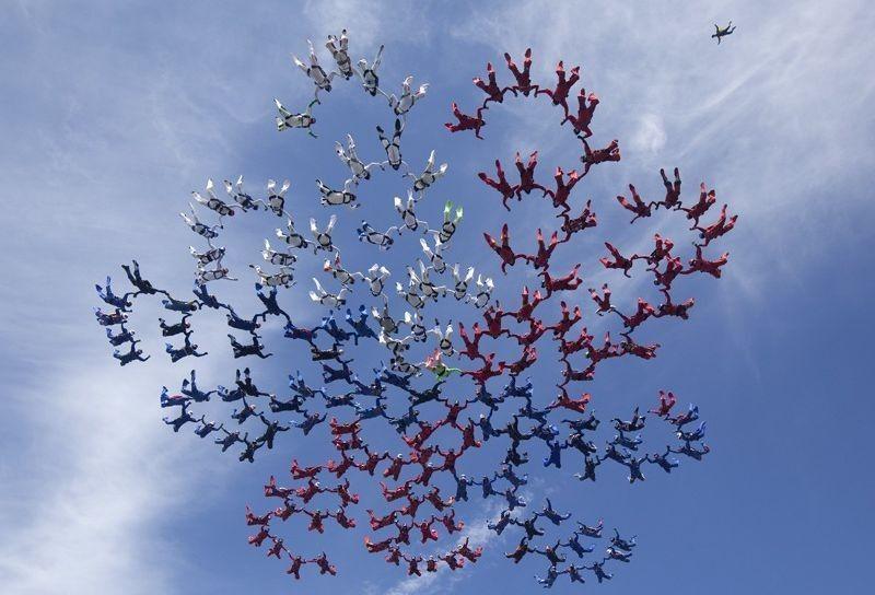 parachutes08 Самые впечатляющие фигуры парашютного спорта