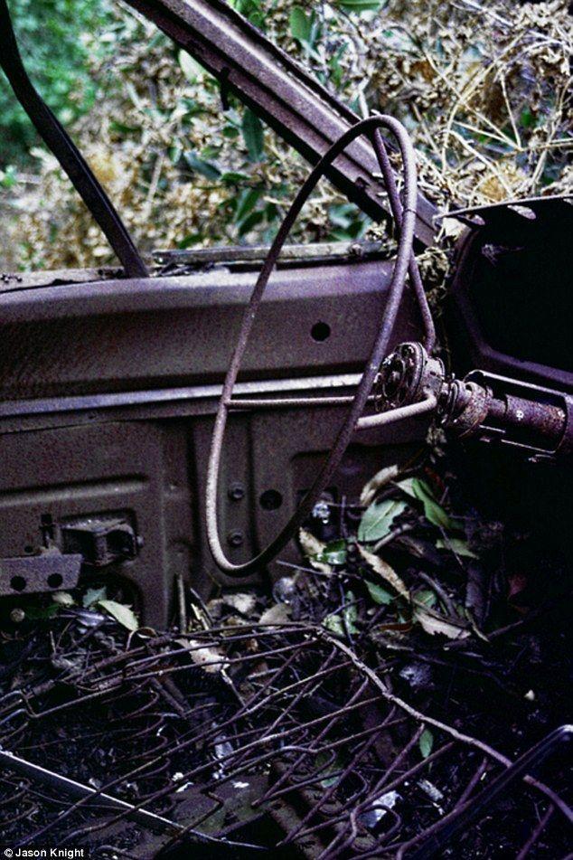 DeadMansCurve11 Раритетные автомобили на обрывах шоссе «Малхолланд Драйв»