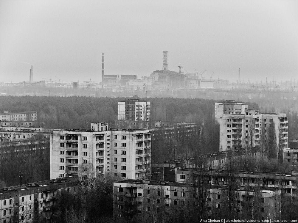 chernobyl01 Призрак Чернобыля августовским утром: взгляд сверху