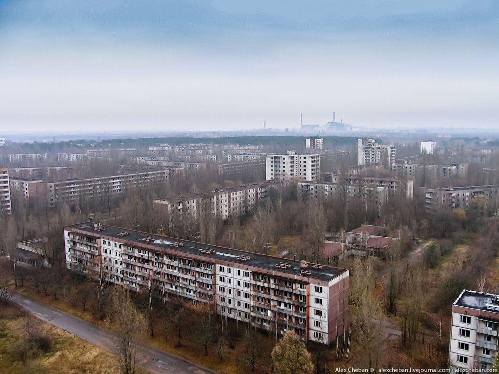 chernobyl23 Призрак Чернобыля августовским утром: взгляд сверху