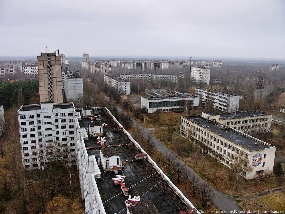 chernobyl24 Призрак Чернобыля августовским утром: взгляд сверху