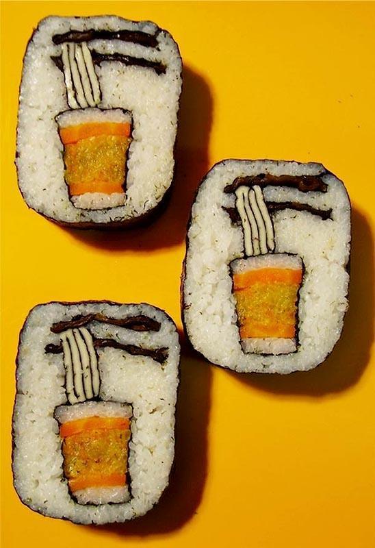 Удивительный суши-арт