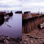 Британское побережье во время прилива и отлива