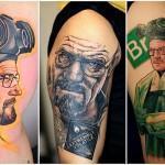 Невероятно реалистичные татуировки Уолтера Уайта