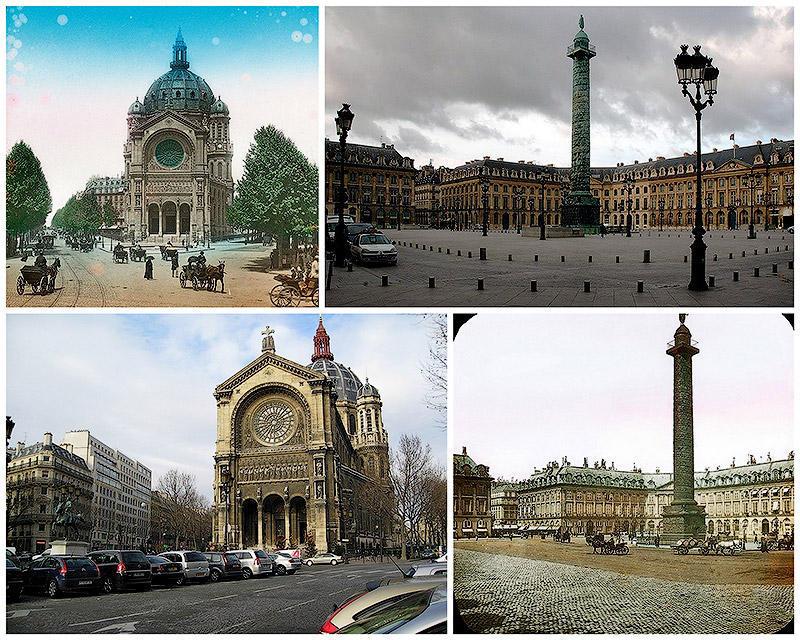 BIGPIC40 Париж тогда и сейчас