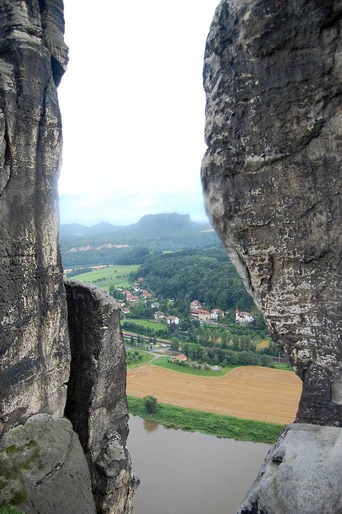 Bastei02 Бастай   каменный бастион Саксонии