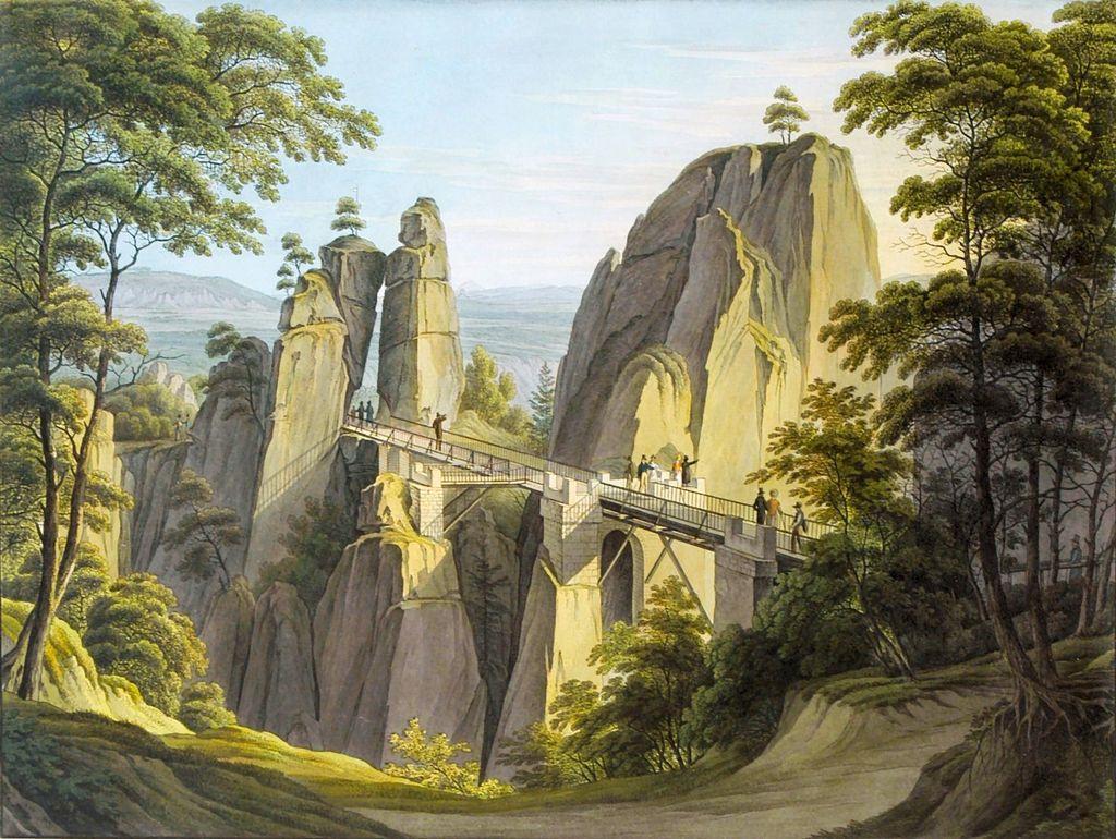 Bastei04 Бастай   каменный бастион Саксонии