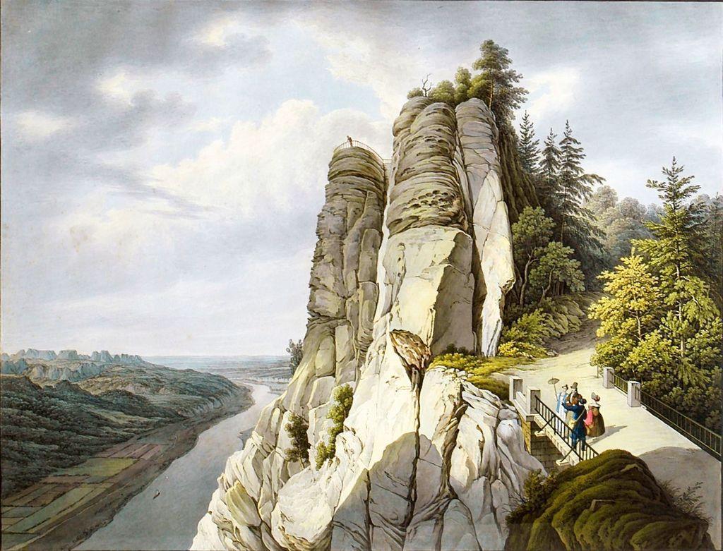 Bastei05 Бастай   каменный бастион Саксонии