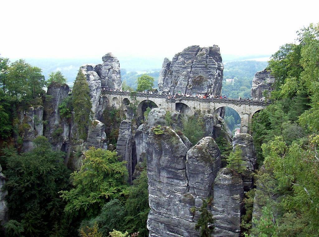 Bastei07 Бастай   каменный бастион Саксонии