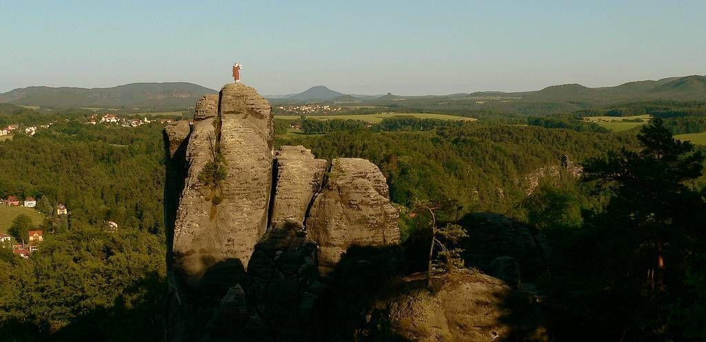 Bastei13 Бастай   каменный бастион Саксонии