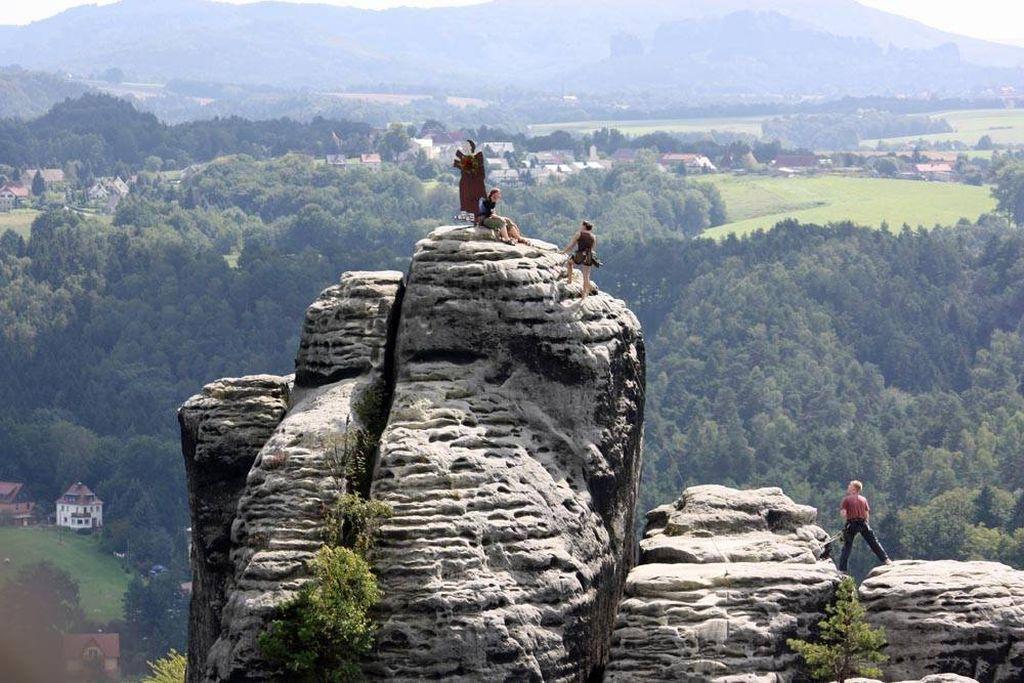 Bastei14 Бастай   каменный бастион Саксонии