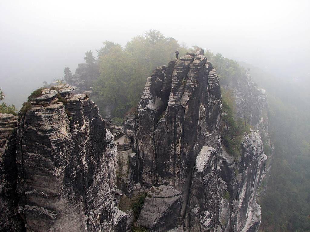 Bastei15 Бастай   каменный бастион Саксонии