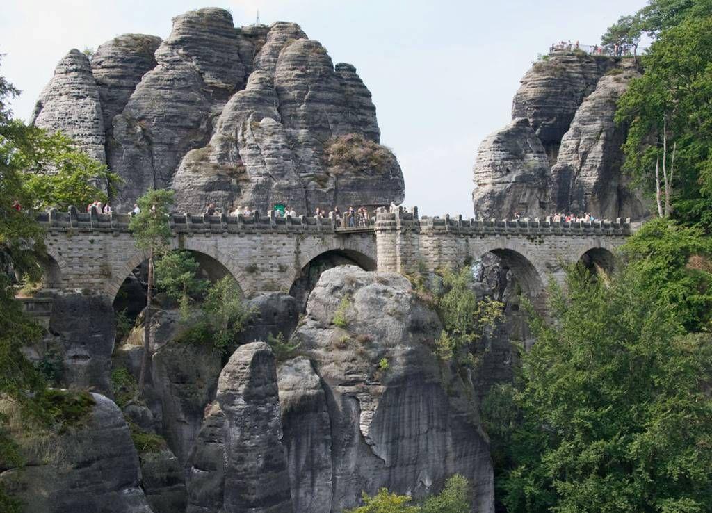 Bastei18 Бастай   каменный бастион Саксонии