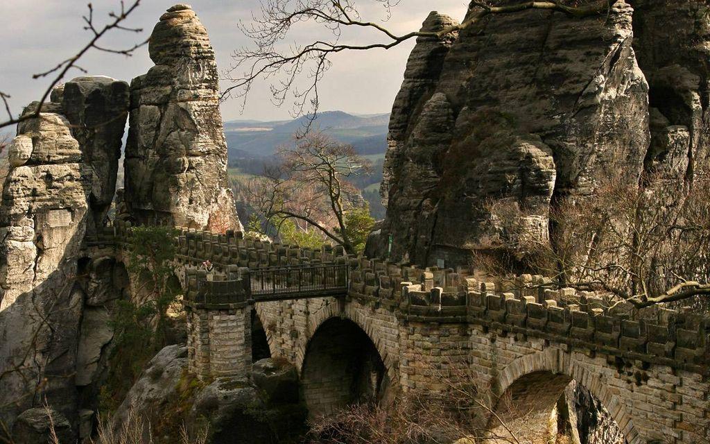 Bastei19 Бастай   каменный бастион Саксонии