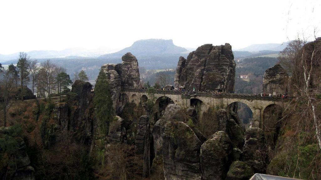 Bastei21 Бастай   каменный бастион Саксонии