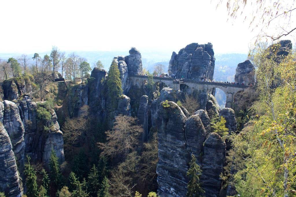 Bastei23 Бастай   каменный бастион Саксонии
