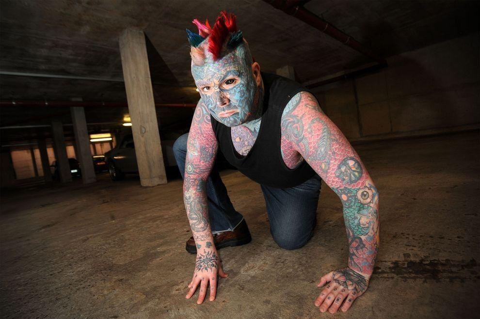 Whealen07 Самый татуированный человек Британии