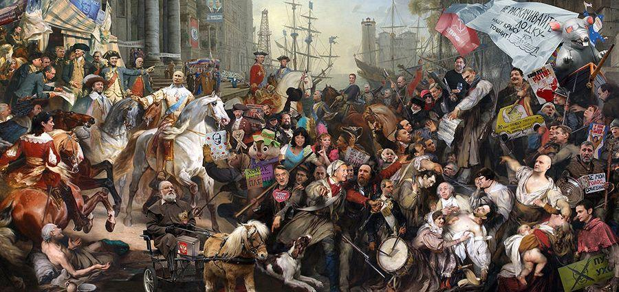 cartoon20 Красочные «Политические плакаты» Андрея Будаева