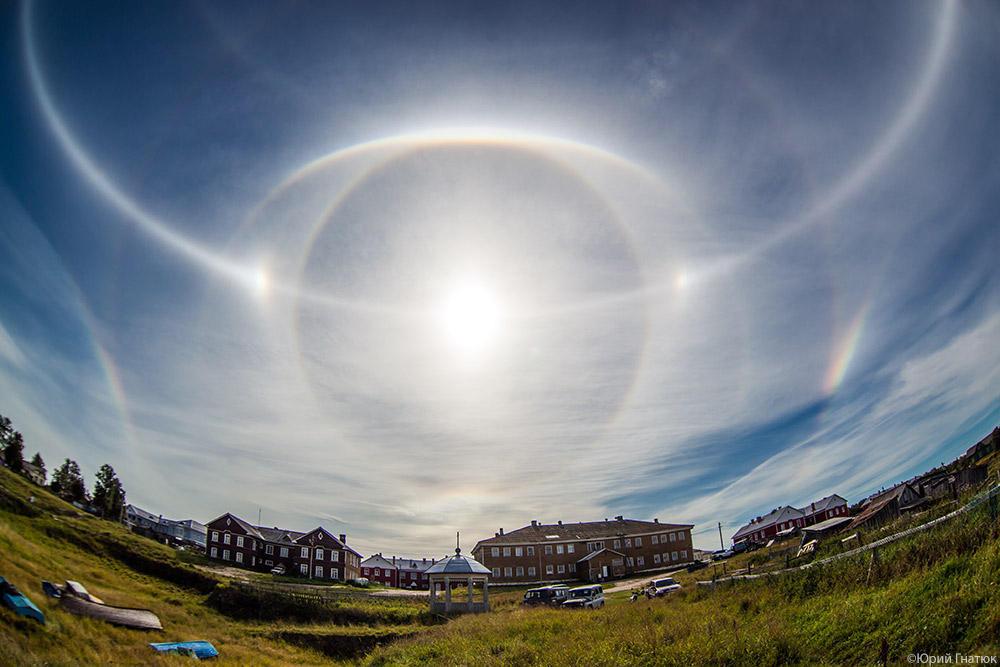 halo01 Удивительное солнечное гало на Соловках 24 августа 2013 года