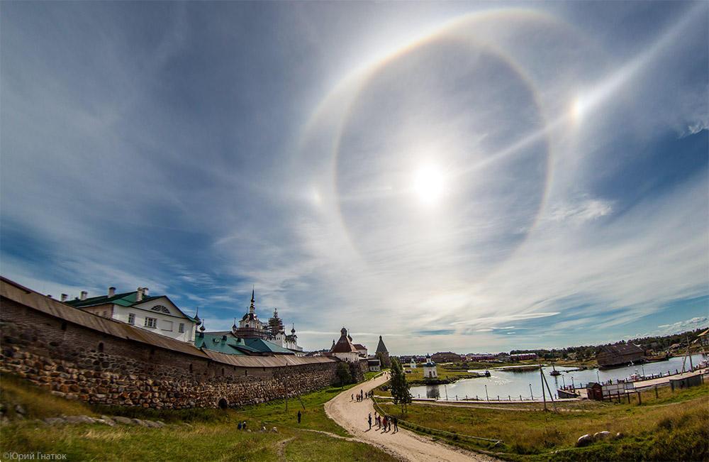 halo03 Удивительное солнечное гало на Соловках 24 августа 2013 года