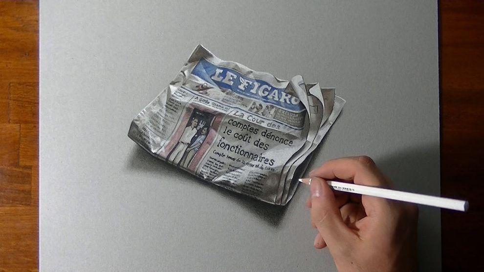 marcellobarenghi11 Гиперреалистичные рисунки обычных предметов